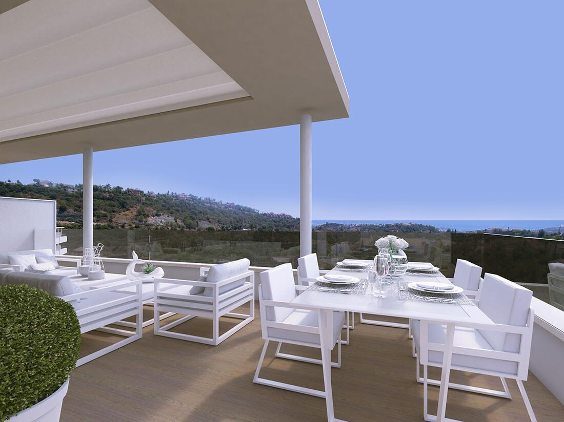 Store leiligheter med enorme terrasser i Benahavis